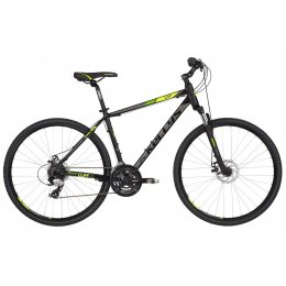 Kellys Cliff 70 Black Green Alu Cross Hardtail, Shimano...