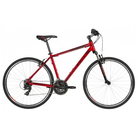 Kellys Cliff 10 Red Alu Cross Hardtail, Shimano TY300, 21-Gang (K19175)