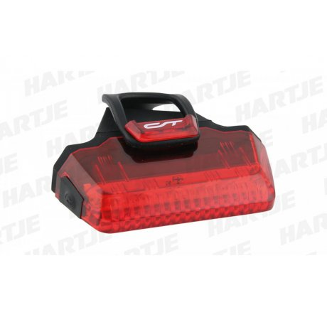 CONTEC Batterie-LED-Rücklicht Speed-LED 1.1 Lux 7 LITEON LED, schwarz/transparent rot
